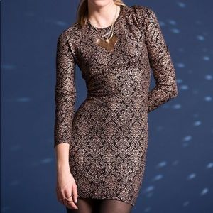 UO lucca couture gold foil body con dress